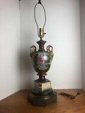 Vintage Amsterdam Holland Porcelain Lamp Base Signed M Langbroek Romantic