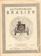 1913 Publicite Automobile BRASIER