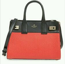 NWT Kate Spade LUNA DRIVE Willow Leather Satchel Crossbody Black Red RARE!