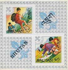 60th aniversario de scounting Boy Scouts Bután estampillada sin montar o nunca montada SELLO Sheetlet