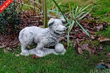 Hund mit Ball Gartenfigur Figur Tier Skulptur Skulpturen Figuren Statue Deko Neu