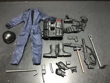 """1/6 Police Swat 12"""" Uniform Clothing Accessories Lot For GI Joe Or Other Fig 074"""