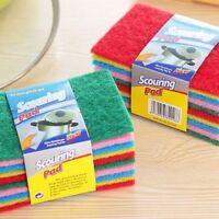 10Pcs/Set Kitchen Scouring Pads Cleaning Cloth Sponge Dish Washing Brush Useful