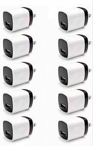 Wholesale Lot Wall Charger Charging Block Phone USB Cube iPhone iPad Samsung