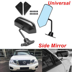 Universal F1 Style Rear View Racing Car Side Mirror Convex Glass Cafe Retro Pair