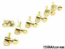 *NEW 2 Pin Locking TUNERS Tuning Pegs for Fender Stratocaster Strat Gold