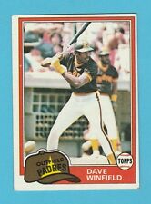 BASEBALL - TOPPS  GUM  -  DAVE  WINFIELD  -  OUTFIELD  -  PADRES  -  1981
