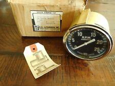 1929-1953 Stewart Warner Tachometer 0-25 Rpm Big Block Truck Combine Tractor Nos