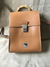 Dooney & Bourke Vintage Leather Backpack Bamboo Made In Italy