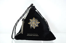ERMANNO SCERVINO POCHETTE DONNA PYRAMID BEAUTY VELVET BLACK 12400281 NERO