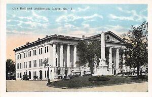 C98/ Macon Georgia Ga Postcard c1915 Unsent City Hall and Auditorium Building