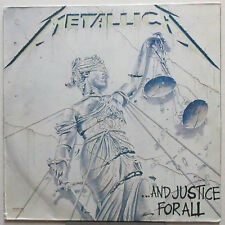 METALLICA ...And Justice For All 1988 MEXICO Vertigo TRANSLUCENT Vinyl LP VG+