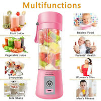 380ml Portable USB Portable Electric Fruit Juicer Smoothie Maker Blender Machine