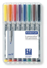 Staedtler Lumocolor Non-Permanent Medium Universal Marker Pens Desktop Pk of 8