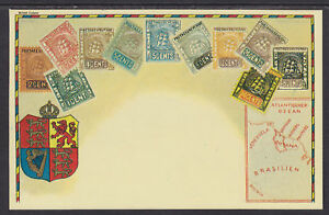 Zieher unused 1980 PPC. British Guiana Stamps, Embossed