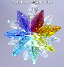 m/w Swarovski Crystal Chakra Colors Lily AB Star SunCatcher Lilli Heart Designs