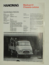 Prospectus Camion  HANOMAG  MARKANT II  non daté    brochure catalogue