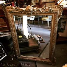 Antique Gilt French Mirror Gesso / Wood With Decorative Face Mask. L@k!