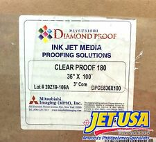 "Mitsubishi Diamond Proof Ink Jet Media - Clear Proof 180 - 36"" x 100' Roll Film"