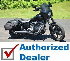 "Rifle Roadster Vivid Black Fairing Dark Tint 15"" Shield Harley Dyna 39mm Kit"