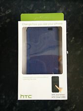 Genuine Official HTC Dot View Cover / Case for One M8/M8s in Blue