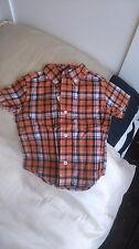 GYMBOREE baby bou shirt, orange, checked, size12-18months, new with tag