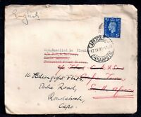 GB KGVI 1941 cover to Kuala Lumpur forwarded to Cape Town WS10331