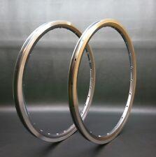 """2 Rims 16x1-3/8"""" (WO-349) Ti-Grey Anodized Alloy Rim Set ( 20H+28H ) Brompton"""