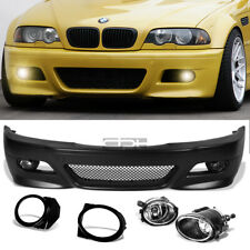 Fit 99-06 E46 3Series Non-M M3 Style Replacement Front Bumper Body Kit+Fog Light