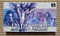 DARK HALF - Boxed - Super famicom SNES - Japan game