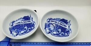 2 Oyster Seafood Sauce Dipping Bowls, Williams-Sonoma Ceramic