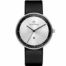 Jacob Jensen 270 Strata Gents Black Leather Strap Watch