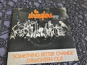 "THE STRANGLERS, SOMETHING BETTER CHANGE ,7""SINGLE,  PICTURE SLEEVE. SEX PISTOLS"
