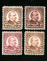US Stamps # 693 VF 4 different shades OG NH
