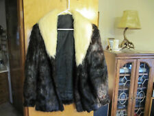 Beautiful Nutria / Fur Jacket Womens Winter Coat Size 14 approx