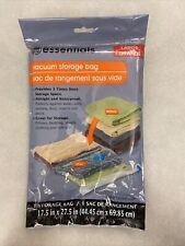 "essentials vaccume storage bag 17.5"" x 27.5"" large size"