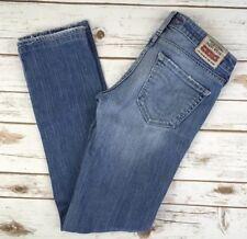 Womens Big Star Jeans Low Rise Rivet Straight Leg Light Stretch Jean 26 X 30
