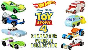 Hot Wheels Toy Story 4 Disney Pixar 8 Diecast Vehicles CHOOSE ONE OR SET OF 8!