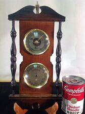 Vintage Barometer, Temp., Rel. Hygro & Pointer Solid Oak, Brass & Glass Faces