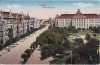 uralte AK, Liegnitz, Hindenburgplatz gezeichnet als Feldpost 1918 Strasse Häuser