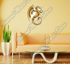 "Golden Dragon Chinese China Reptile Wall Sticker Room Interior Decor 20""X25"""