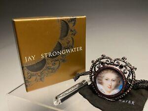 New Unused Jay Strongwater Miniature Swarovski Picture Portrait Frame W/Box