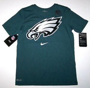 Nwt New Nike Philadelphia Eagles Logo Insignia Shirt Top SS NFL DRI-FIT Youth