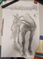 "Pencil Drawing , original artwork,  18"" X 12"""