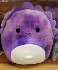 Delilah textured Purple stegosaurus dinosaur Squishmallow 8 Inches! Nwt! Rare!