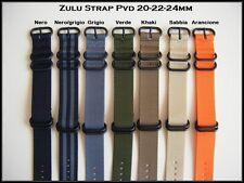 Cinturini NATO ZULU PVD misure: 20-22-24. Nylon Zulu Straps. ENTRATE!!!