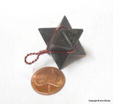 Black Tourmaline Merkaba Pendant Copper Wire Wrap Pendant Reiki Chakra
