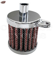 "Crankcase Breather Filter Assembly for Harley or Custom - Fits 3/8"" ID Hose"