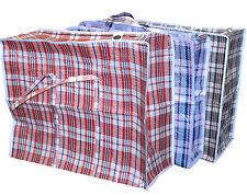 72 X NEW JUMBO LAUNDRY SHOPPING BAG REUSABLE STORAGE LUGGAGE SACK ZIP PVC BAGS