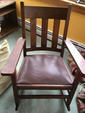 Antique mission style oak rocking chair - great condition